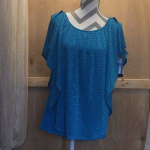 AGB cold shoulder poncho & tank